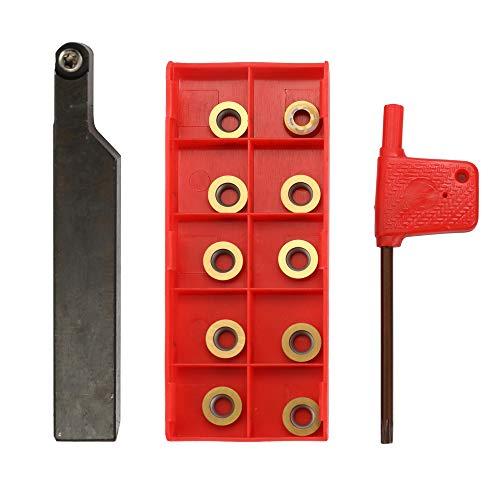 KKmoon SRAPR 1616H10 Mit Hartmetalleinsätze Schraubenschlüssel Planfräsen Externe Drehmaschine Halter DIY Hartlegierung Drehwerkzeug Set