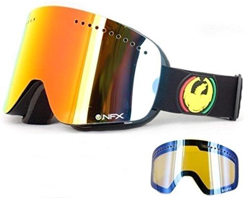 Dragon Nfx Rasta Red Ionized +Blue Lens Mens Ski Snowboard Goggles