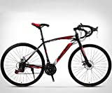 XHCP 26-Inch Road Bicycle, 24-Speed Bikes, Double Disc Brake, High Carbon Steel Frame, Road Bicycle Racing, Men and Women Hiking and Outdoor Use