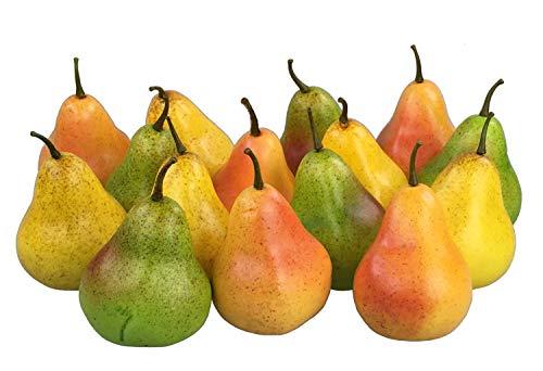 GMMH Deko künstliches Obst Dekoration (Birnen bunt, 15 Stück)