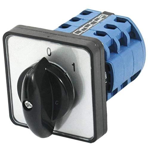 ZOZOSEP Interruptor de Cambio CA10 Montaje en Panel Cuadrado Interruptor de Cambio rotativo trifásico de 2 Posiciones
