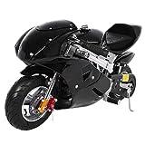 2020 Mini Gas Pocket Bike 49cc 4 Stroke, Support Up to 200 lbs, Perfect Mini Pocket Bike for Kids (Black)