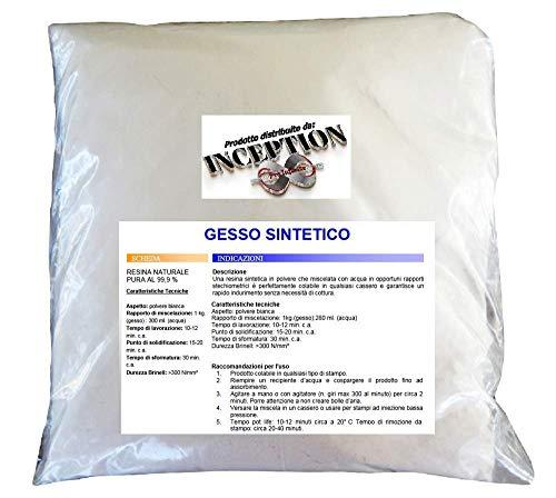 Inception Pro Infinite 1kg del miglior Gesso in Commercio - Gesso Sintetico - atossico - colabile - extraduro - Alta Definizione e Resistenza - Effetto Porcellana