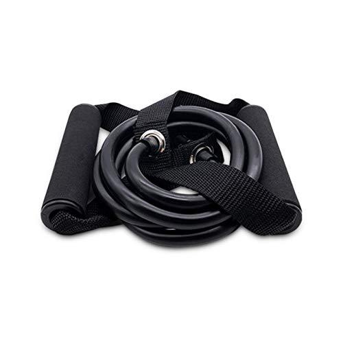 Xuyichangzhishi 120 cm Banda de Resistencia elástica Cuerda de tracción de Yoga Ejercicio de Fitness Ejercicio cinturón de Fitness Estiramiento de Goma de Yoga expansor de Cuerda de tracción-Negro