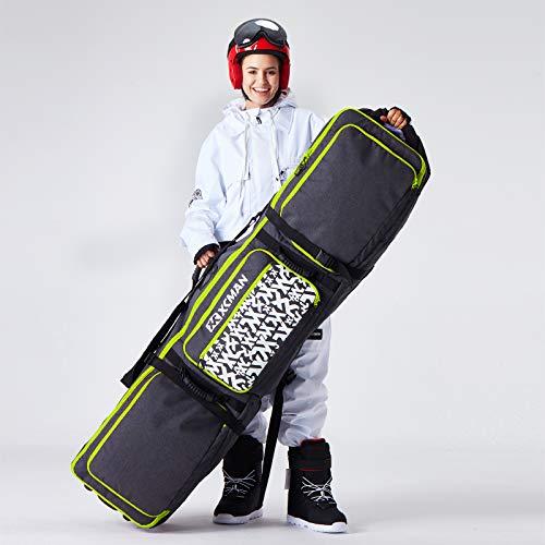 XCMAN Snowboardtasche mit Rollen, verstellbare L?nge f¨¹r Flugreisen ¨C extra lang/breit/tief, wasserabweisend, mit ABS-Schutzrippen und PP-Schutzr¨¹cken