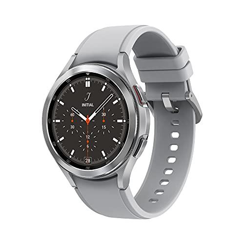 Samsung Galaxy Watch4 Classic 46mm SmartWatch Acciaio Inox, Ghiera Rotante, Monitoraggio Benessere, Fitness Tracker, Silver 2021 [Versione Italiana]
