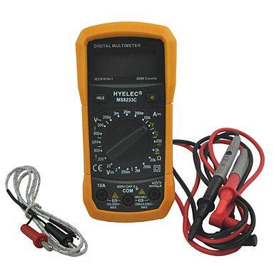 ZYT Home ZYT multifunción ms8233c HYelec Mini multímetro digital w test/temperatura& luz de fondo
