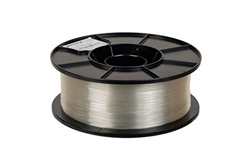 JANBEX PLA Filament 1,75 mm 1kg Rolle für 3D Drucker oder Stift in Vakuumverpackung (Transparent)