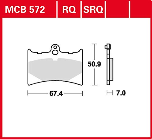 Bremsbelag TRW organischer Allround-Bremsbelag RS 125 Tuono SF 03 vorne