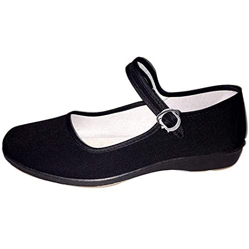 LGYKUMEG Zapato Chino Terciopelo,Zapatos Tradicionales de Bailarinas, Zapatos de Baile de Entrenamiento de Yoga, Zapatos Abiertos Tradicionales con Correas y Talones,Zapatos de Mujer de Terciopelo