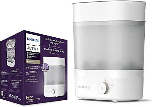 Philips Avent Scf291/00 - Esterilizador De Botellas Eléctrico A Vapor Para Hasta 6 Biberones, Tetinas Y Accesorios, Diseño Modular, Color Blanco