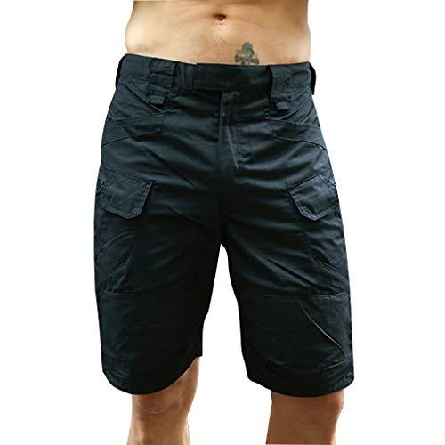 TIREOW Outdoor Trend Leisure Five-Divided Hose Shorts Badehose für Herren Mann (L3, Schwarz)