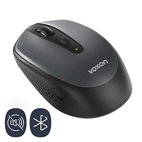 VOXON Bluetooth Maus, Kompakte Wireless Kabellose Bluetooth Mini Mouse, 1600 DPI 24 Monate Batterielaufzeit mit Akkuanzeige für PC/Tablet/Laptop Tragbare kleine Reisemaus