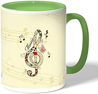 Beautiful musical tone Coffee Mug by Decalac, Green - 19001