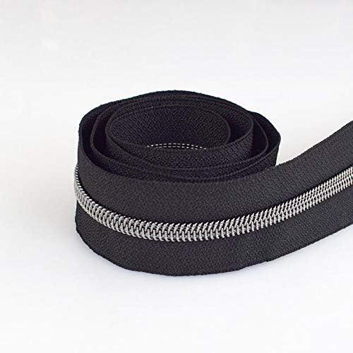 WGSI 4Meters 5 Nylon Rits for Naaien DIY Zip Clothes Openend Ritsen Sports Coat Bag Garment Kleding accessoires ColorGunblack Size5