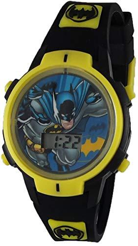 Dc Comics Batman Boy's Black Rubber Digital Light Up Watch