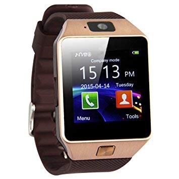 PromoTech 2020 DZ09 Bluetooth Armbanduhr Touchscreen Smart Uhr Telefon Unterstützt SIM & TF Karte Android Smart Watch Sportuhr mit Kamera Call Message Kalender (Gold) …
