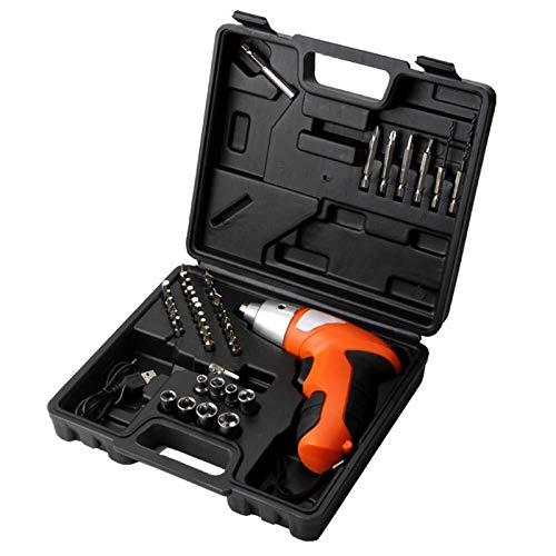 Yongenee 3.6-4.8V Mini Taladro sin Cuerda Recargable del Kit del Destornillador Broca Conductor con LED e indicador de batería Herramientas