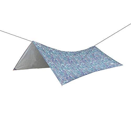 Tienda de Campaña de Tela a Cuadros de Poliéster Toldo Impermeable Refugio para Acampar Senderismo Picnic Playa tarp Impermeable