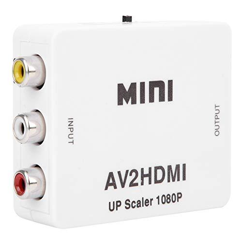 TAKE FANS Mini AV a HDMI 1080P 60HZ salida convertidor de vídeo adaptador de alta definición con cable USB, blanco