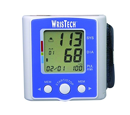 Purchase WrisTech Blood Pressure Monitor with Case - Lightning Fast & Highly Accurate - Heart Rate M...