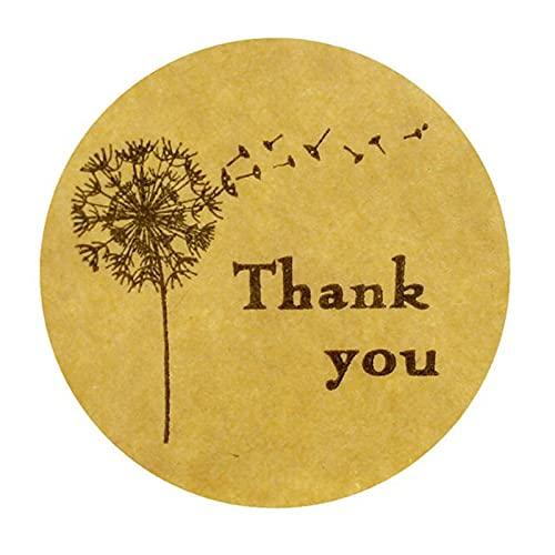 Shengo 感謝シール ラッピング ギフトシール ラッピング ありがとう シール お礼 ラベル ステッカー フラワーズ 可愛い 業務用 感謝の日 500枚 (タンポポ)
