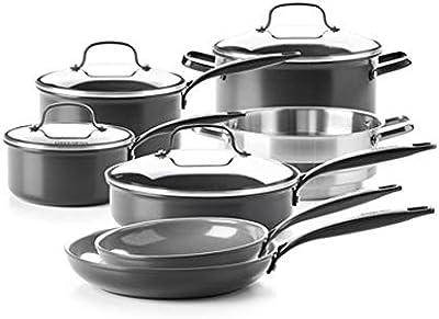 GreenPan New York Pro Ceramic Nonstick Cookware 11-Piece Set