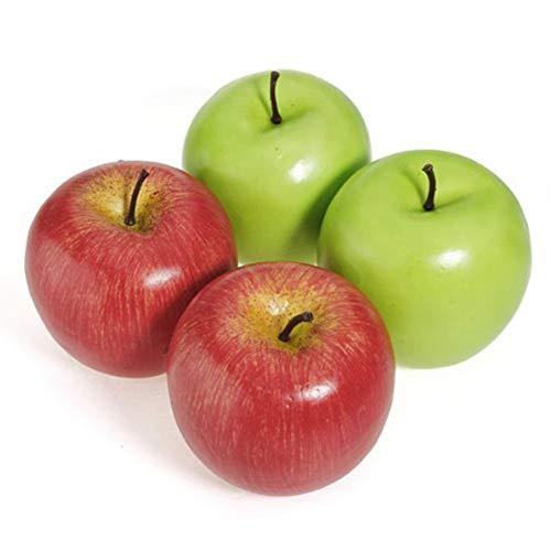 NiceButy 12st Künstliche Äpfel Dekorative Große Simulierte Apple-Kunststoff Früchte für Zuhause-Party-Dekor (Rot, Grün) Haushaltsprodukte
