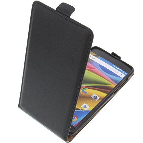 foto-kontor Tasche für Archos 55b Cobalt Lite Smartphone Flipstyle Schutz Hülle schwarz