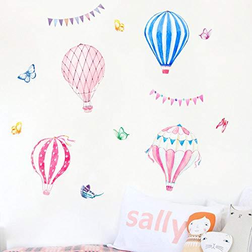 Muursticker voor kinderkamer, vlinder, dieren en heteluchtballonnen, om zelf te maken voor kinderen