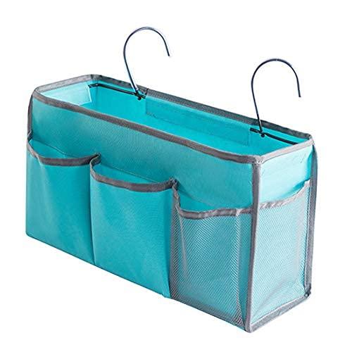 Caddy, organizador para colgar en la mesita de noche, bolsa de bolsillo, litera, cesta de almacenamiento para dormitorio, hospital
