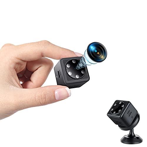 Mini Telecamera Spia Nascosta, Telecamera Spia HD 1080P Wireless Visione Notturna e Registrazione in Loop Micro Videocamera Spia Sicurezza Nanny Sorveglianza Domestica per Esterno/Interno(No Wifi)