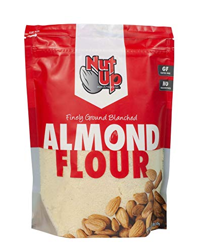 Nut Up Finely Ground Blanched Almond Flour, Gluten-Free Baking Alternative – Vegan, Non-GMO, No Preservatives – 16 Ounce Bag