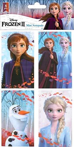 TrendyMaker Eiskönigin 2 - 8 x Notizblock in 4 Designs, super für die Schultüte und als Mitgebsel für Partytüten, Disney Frozen 2