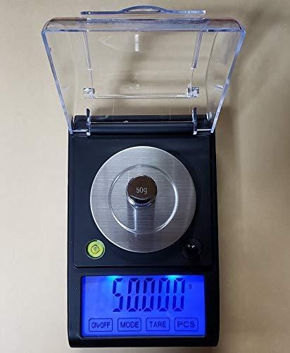 電子てんびんデジタルはかりデジタル天秤電子天秤DC電源使用可能、日本語取説付精密天秤0.001gで50gスケール超精密はかりデジタル秤最小単位0.001gが計れるタッチパネル