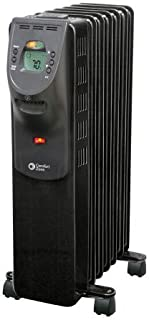 Comfort Zone CZ9009 1500 Watt Oil-Filled Digital Radiator Heater with Silent Operation, Black
