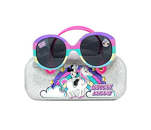Minnie Mouse Kids Sunglasses for Girls, Toddler Sunglasses with Kids Glasses Case