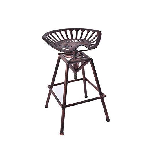 Estilo Creativo Industrial Retro Cast Iron Bar Silla Silla elevable Hierro Forjado Silla de la Barra Barra de Mesa (Color : Brass)