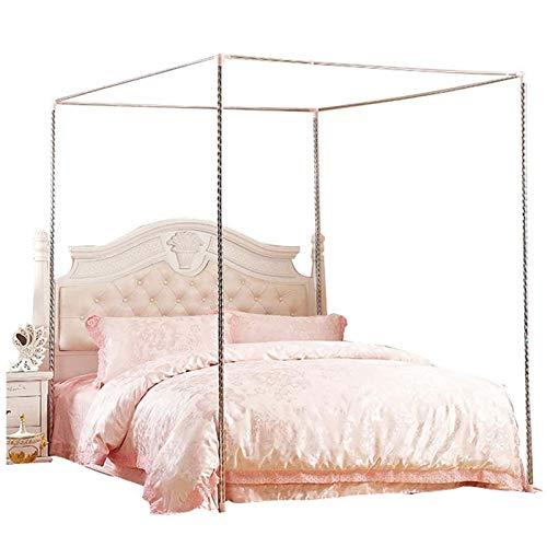LLGHT Canopy Bed Netting Marco De Acero Inoxidable/Post Full/Queen Size, 4 Soportes del Poste del Marco del Toldo De La Cama del Acero Inoxidable De La Esquina (Size : 1.2×2m Bed)