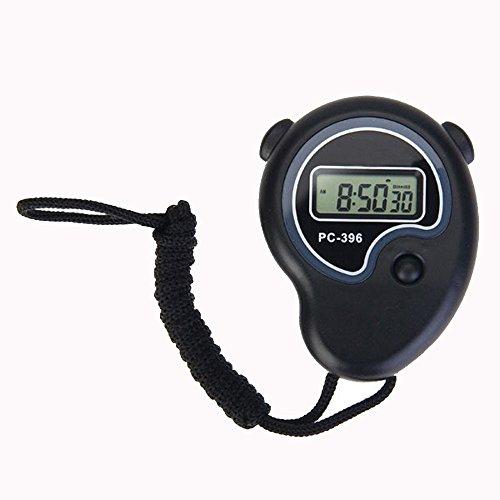 Cikuso Cronometro Digital de Mano Deportivo Reloj de Cronometro Despertador Contador de Tiempo
