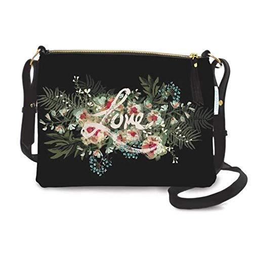 Papaya: Wonder Crossbody Bag Doppelfach Boho-Geldbörse Kleine Damen Messenger Bag