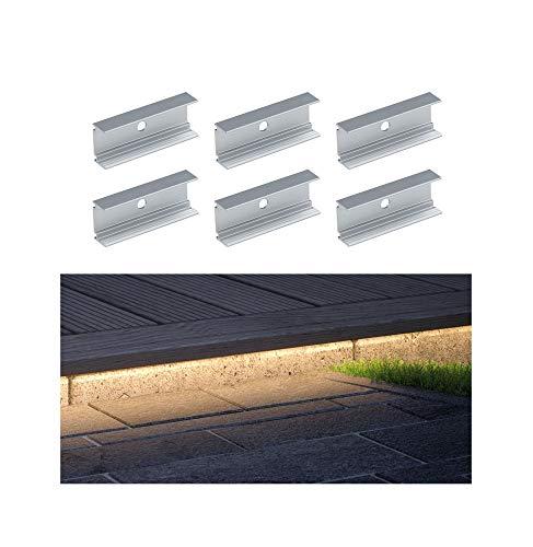 Paulmann 94193 Plug & Shine Stripe 6 clips de fixation Extérieur Blanc Lampe de jardin Plastique Éclairage de jardin