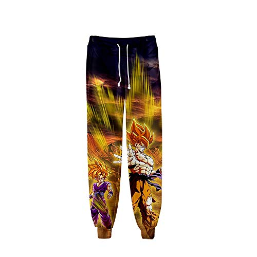 HPOZA Unisex 3D Printed Dragon Ball Jogginghose Trainingshose Freizeit Sporthose Jogger Pants,Sweatpants Hosen, Lange Pants