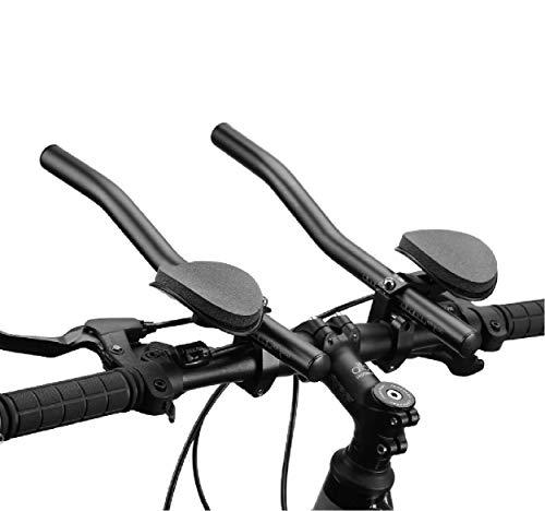 ACECYCLETT Manubrio Aero Bars Triathlon Time Trial Tri Ciclismo Manubrio Resto Bici per Mountain Bike e Bici da Strada Lega di Alluminio Versione (Nero)