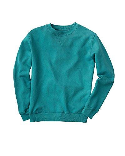 National Fleece Crewneck Sweatshirt, Jade, Petite Small