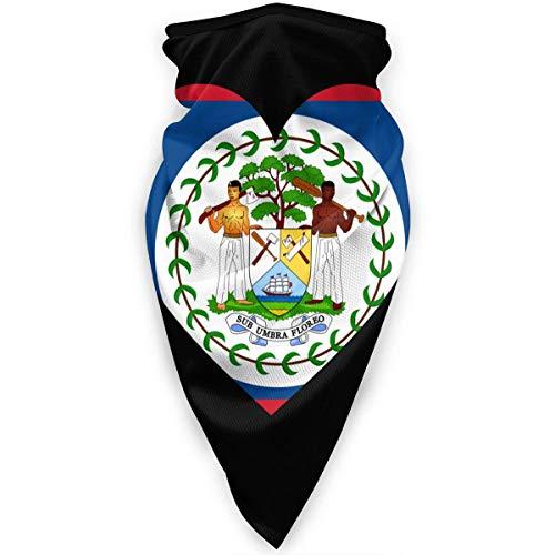 HLw Love Belice Flag - Polaina para el cuello, resistente al viento, máscara facial para deportes al aire libre