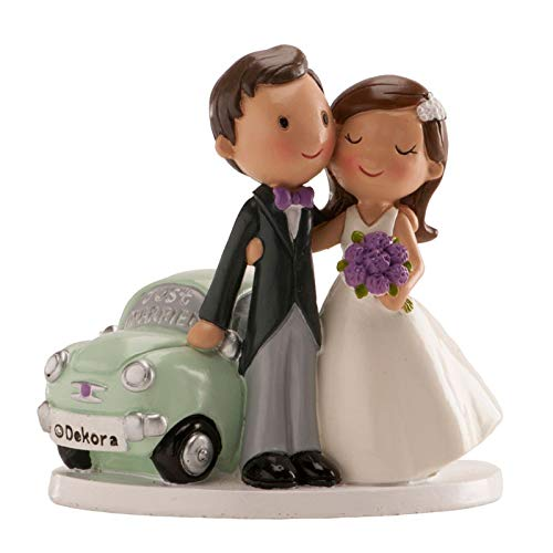 Figura boda PERSONALIZADA novios coche tarta figuras GRABADAS
