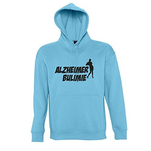 ALZHEIMER BULIMIE - Kapuzen Sweatshirt - Pullover S-XXL , Turquoise-schwarz , XXL