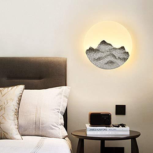 BDwantan Lámpara de pared creativa para dormitorio o dormitorio moderno minimalista, sala de estar, pasillo, escaleras, habitación de los niños, ahorro de energía, iluminación LED
