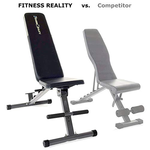 Fitness Reality 1000 Super Max Weight Bench with Upgraded Wider Backrest/Seat (2019 Version), 800 lb (2804)
